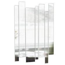 Strip Mirrored Wall Art in Clear (Set of 7)