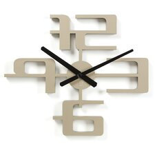 Big Time Geometric Molded Clock