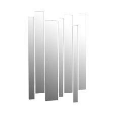7 Piece Strip Mirrored Wall Décor Set