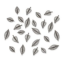 Natura Wall Art in Espresso (Set of 24)