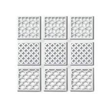 Geometra Metal Wall Décor Tiles (Set of 9)