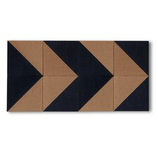 Graph Cork Board Tiles (Set of 8)