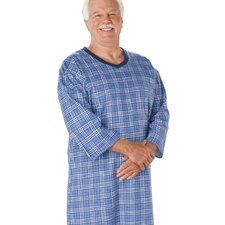 <strong>Silvert's</strong> Mens Flannel Patient Gown
