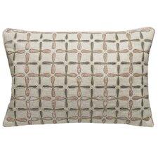 Petals Linen Embellished Decorative Pillow