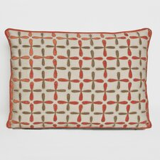 Petals Linen Embellished Decorative Pillow