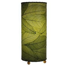 "Cocoa Leaf Cylinder 16.5"" H Table Lamp with Drum Shade"