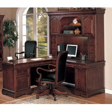 Rue De Lyon L-Shape Executive Desk with Hutch