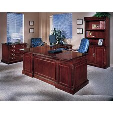 "Keswick Executive ""L"" Desk Suite with Bookcase and Lateral File"