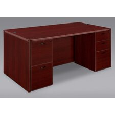 Fairplex Executive Desk Shell Only with Grommet Holes