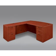 Fairplex Right / Left Executive Bow Front L Desk