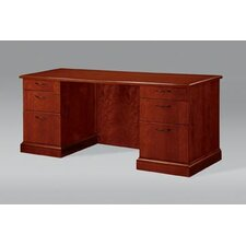 Belmont Executive Desk with Full Return Base Mouldings and 6 Drawers