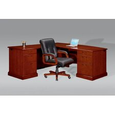 "Belmont Right Executive ""L"" Desk with 6 Drawers"