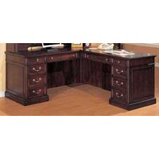 "Wellington Right ""L"" Executive Desk with 10 Drawers"