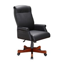 <strong>DMI Office Furniture</strong> High Black Leather Roll Office Chair with Arm