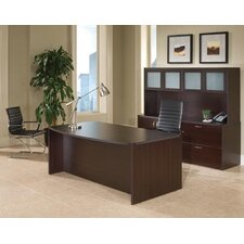 <strong>DMI Office Furniture</strong> Fairplex Executive Standard Desk Office Suite with Glass Door