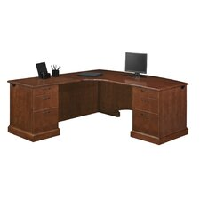 "Belmont Corner ""L"" Executive Desk with 6 Drawers"