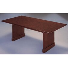 Governor's 6' Rectangular Conference Table with Twin Slab End Bases