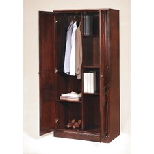 "Oxmoor 34.5"" Double Door Storage Wardrobe Cabinet"