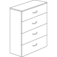 <strong>DMI Office Furniture</strong> Fairplex Four Drawer Lateral File in Mocha