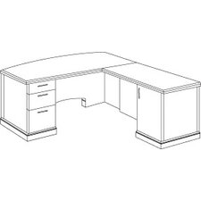 "<strong>DMI Office Furniture</strong> Belmont Computer ""L"" Desk"