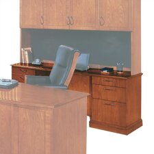 Belmont  Credenza Desk with Full Return Base Mouldings