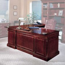 "<strong>DMI Office Furniture</strong> Keswick 72"" W Executive L-Shape Desk with Right Return"