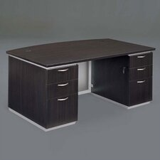 "Pimlico 72"" W Bow Front Executive Desk (Flat Pack)"