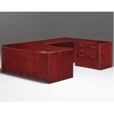 Summit Reed Right U-Shape Executive Desk with Personal File (Flat Pack)
