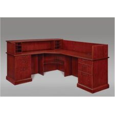 "Belmont Right Reception ""L"" Desk with 6 Drawers"