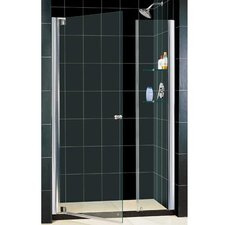 "Elegance 54 .50"" x 56 .50"" Pivot Adjustable Shower Door"