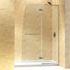 "Aqua 60"" W x 74.75"" H x 30"" D Hinged Shower Door with SlimLine Base"