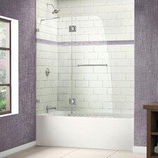"""Aqualux 48"""" W x 58"""" H Clear Glass Bathtub Door"""