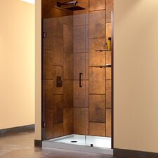 "Unidoor 41-42"" W x 72"" H Hinged Shower Door"