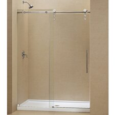 "Enigma-Z 60"" W x 78.75"" H x 36"" D Shower Door and Slimline Base"