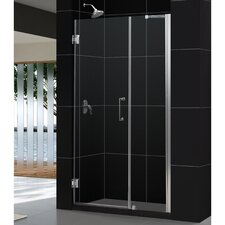 "Unidoor 47 - 48"" W x 72"" H Hinged Shower Door"