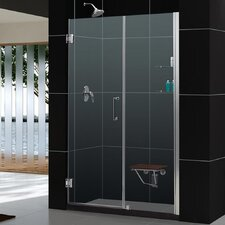 "Unidoor 57 - 58"" W x 72"" H Hinged Shower Door"