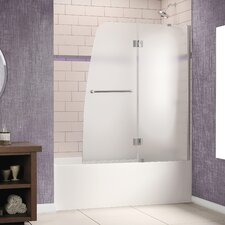 "Aqua 48"" W x 58"" H  Frameless Hinged Frosted Right Side Tub Door"