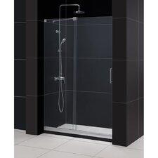 """Mirage 44 to 48"""" Frameless Sliding Shower Door, Clear 3/8"""" Glass Door"""