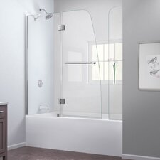 Aqua 56 to 60 in. W x 58 in. H Hinged Tub Door with Hardware