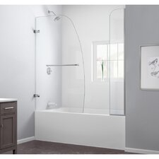 Aqua Uno 56 to 60 in. W x 58 in. H Hinged Tub Door with Hardware