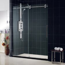 "Enigma 56 to 60"" Fully Frameless Sliding Shower Door, Clear 1/2"" Glass Door"