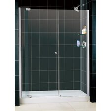 "Butterfly 34-35.5"" W x 72"" H Bi-Fold Shower Door"