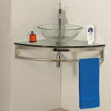 Round Glass Vessel Sink