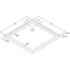 SlimLine Double Threshold Rectangular Shower Base