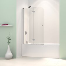 "AquaFold 36"" Frameless Hinged Tub Door, Clear 1/4"" Glass Door"