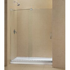"Mirage 60"" x 34""  Frameless Shower Door and SlimLine Shower Base"