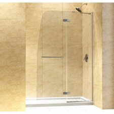 "Aqua Ultra 60"" W x 74.75"" H Hinged Shower Door with SlimLine Base"