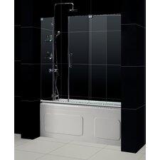 """Mirage 56 to 60"""" Frameless Sliding Tub Door, Clear 3/8"""" Glass Door"""