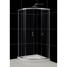 "Solo 34.375"" x 34.375"" Sliding Shower Enclosure"