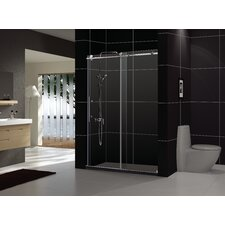 "Enigma-X 60"" x 30"" Frameless Shower Door and SlimLine Shower Base"